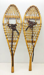 Antique Vintage 11 X 37 Kid Child Snowshoes Usable or Decor FREE SHIPPING $79.99
