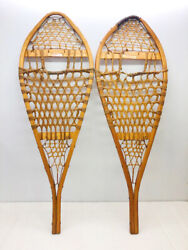 Antique Vintage 14quot; X 42quot; TORPEDO Snowshoes For Decor Arts amp; Craft FREE SHIPPING $69.99