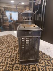 Vintage prmitive tin lantern. Can be used indoors and outdoors. $32.00