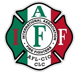 4quot; IAFF Decal Exterior Mount Italian Flag Pattern Please Read Auction