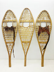 Lot Of 3 Different Single Kid Child Snowshoes 4 Decor Arts amp; Craft FREE SHIP $99.99