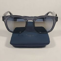Le Specs Block Party Rectangle Sunglasses Slate Gray Frame Gray Gold Gradient $89.99