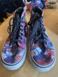 VANS OFF THE WALL GIRLS YOUTH SIZE 3 HIGH TOP ROSE SNEAKERS $13.50