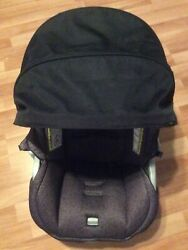 EVENFLO Litemax Baby Car Seat Cover Cushion Canopy Part Replacement Black Gray $24.99