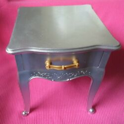 AMERICAN GIRL DOLL SILVER SIDE TABLE NIGHTSTAND GRAND HOTEL for 18quot; dolls 2017 $30.99