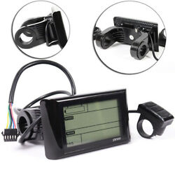 Ebike LCD Display Panel 24 36 48V For E Bike Electric Bicycle Speed Meter $37.19