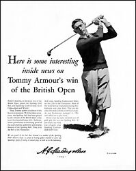1931 Tommy Armour British Open Spalding Balls amp; Clubs vintage photo print ad XL2 $33.95