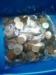 Bulk Lots World Coins 5 pound bags 1920#x27;s to around 2000 $45.00