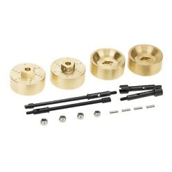 4pcs RC Axles Brass Weights w Drive Shaft for 1 24 Axial SCX24 Spare Parts $15.36