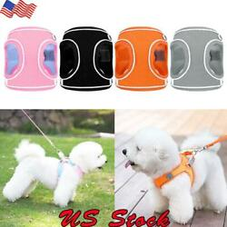 US Dog Mesh Harness Lead Leash Reflective Small Pet Cat Puppy Vest For Chihuahua $12.59