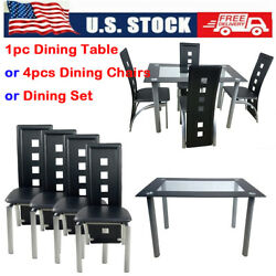 Breakfast Furniture 4 Pcs PVC Leather Chair or Dinner Table Kitchen Dining Room $152.89