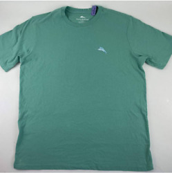 Been There Drone That Tommy Bahama Mens Graphic T Shirt Green Crew Neck L New $33.00