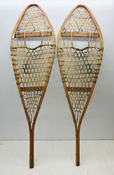 Antique Vintage 14quot; X 48quot; Snowshoes For Decor or Arts amp; Craft FREE SHIPPING $69.99