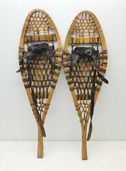 Antique Vintage 10 X 33 Kid Child Snowshoes Usable or Decor FREE SHIPPING $79.99