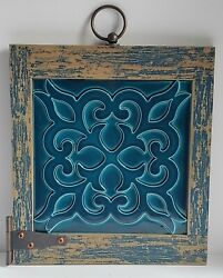 Farmhouse Country Decor Rustic Shabby Chic Wall Art Brown amp; Blue 11 × 10.5 $16.99