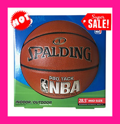 Basketball Official Size 28.5#x27;#x27; Spalding Outdoor Indoor NBA Pro Tack $31.95