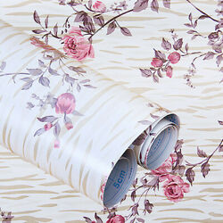 Floral Contact Paper Shelf Liner Adhesive 45 x 200 cm Wall Sticker DIY Decor US $8.80