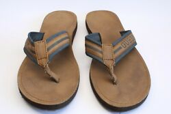 Guess USA Mens Flip Flop Sandals Size 13 Brown Slip on Thong Beach Shoes $24.99