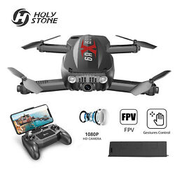 Holy Stone Foldable Drone with HD Camera GPS FPV RC Quadcopter Drone Helicopter $66.49