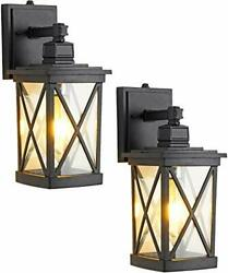 Set of 2 Dusk to Dawn Outdoor Wall Sconces Modern Fixtures with Photocell Sensor $119.12