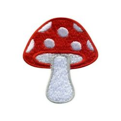 Toadstool Toxic Mushroom Embroidered PATCH BADGE $4.60