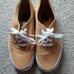 Womens VANS Yellow Tan Tennis Shoes Size 8.5. Great Condition $15.99