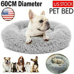 Pet Dogs Cats Calming Bed Warm Soft Plush Round Nest Comfy Sleeping Kennel Cave $16.99
