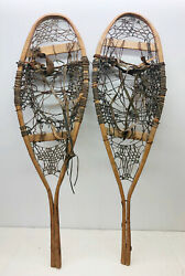 Old Antique Vintage 13quot; X 43quot; Rustic Snowshoes For Decor or Arts And Craft. F S $69.99