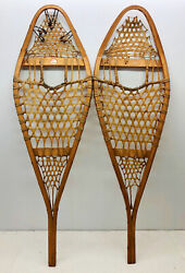 Antique Vintage 13quot; X 42quot; BASTIEN BROTHERS Snowshoes For Decor or Arts and Craft $69.99