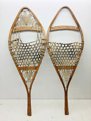 Antique Vintage 15quot; X 43quot; Snowshoes For Decor or Arts amp; Craft FREE SHIPPING $64.99