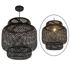 Bamboo Lamp Shades Rattan Wicker Lampshades for Table Lamp Floor Pendant Light $81.62