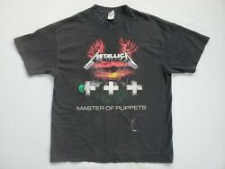 Double Sided Y2K Metallica Master of Puppets Shirt Mens XL 2000s Alstyles Tag $23.99