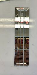 """Lot Of 10 Chandelier replacement panels Mirror 8X2"""" Rectangle Glass Beveled Edge $45.00"""