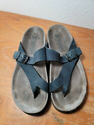 Mephisto Helen Women#x27;s Sandals Size 38 Black cork foot bed Made in France $69.99