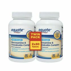 2PK Equate Glucosamine Chondroitin Complex Tablets 80 ct eaTriple Strength 2 22 $13.57