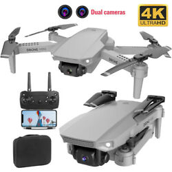 RC Foldable Quadcopter Camera Drones 4K Pro Remote Control Helicopter 2Battery $39.43