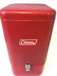 Coleman Lantern 200A Red Metal Guillotine Storage Carring Case Great Condition $344.99