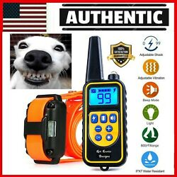 875YARD Dog Training US Collar Rechargeable Remote Shock PET Waterproof Trainer $26.99