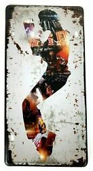 Michael Jackson Toe Stance 3D Licence Plate 12x6 Tin Sign Wall decor Man Cave $14.99