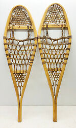 Old Antique 11quot; X 36quot; Child Snowshoes For Decor or Arts and Craft FREE SHIPPING $69.99