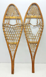 Antique Vintage 11 X 36 Child Snowshoes For Decor Arts and Craft FREE SHIPPING $59.99