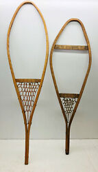 Old Antique Vintage Lot of Two 2 Snowshoes Frame For Decor or Arts and Craft $69.99