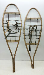 Old Antique Lot of Two 2 Sugar Shack Snowshoes For Decor or Arts and Craft $69.99