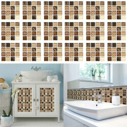 18Pack Mosaic Self adhesive Bathroom Kitchen Decor Home Wall 3D Tile Stickers $9.89