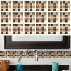 18pcs Mosaic Self adhesive Bathroom Kitchen Decor Home Wall 3D Tile Stickers NEW $9.49
