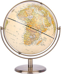 Exerz 8quot; 20Cm World Globe Antique Globe Metal Arc And Base Bronzed Color All $50.99