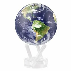 Earth with Clouds Satellite view MOVA Globe 4.5quot; Solar Power $160.00