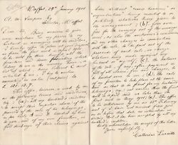Catherine Lacaille 1901 TermsConditions Letter to A. M. Simpson Moffat Rf 40029 GBP 6.00