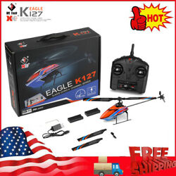 WLtoys XKS K127 RC Helicopter Remote Control Plane 4CH RTF Toy 2 Batteries O5G2 $66.17