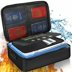Noiposi File Organizer Bag Fireproof Document Bag with Lock Home Office Safe $53.49